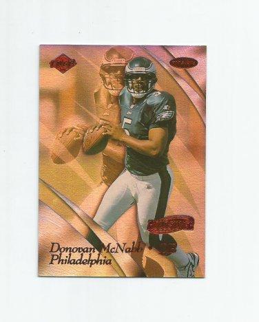 Donovan McNabb 1999 Collector's Edge Masters Holosilver Insert #142 (0043/3500) Philadelphia Eagles