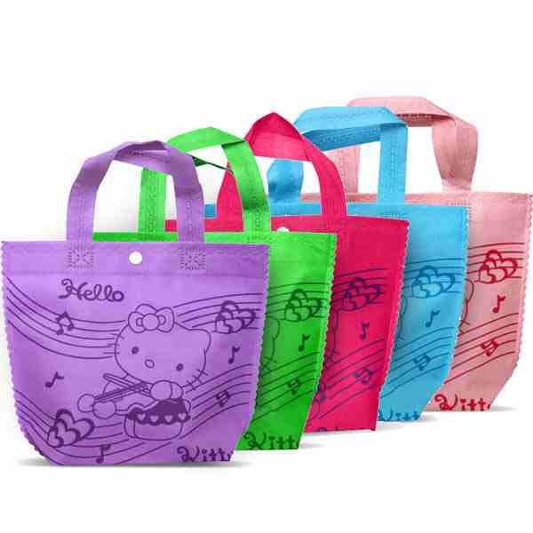 blue or green  kitty party bag, shopping bag, lunch bag