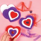 12 LOVE & HEARTS THEMED CHILDRENS CRAFTS - FREE SHIPPING
