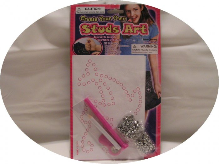 STUDS ART FABRIC/CLOTHING DECORATOR KIT - FREE SHIPPING