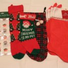 LOT OF 8 CHRISTMAS STOCKINGS plus BONUS - FREE SHIPPING