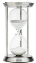 Hourglass 13 Inch 60 Minute Stainless Steel Finished Hourglass