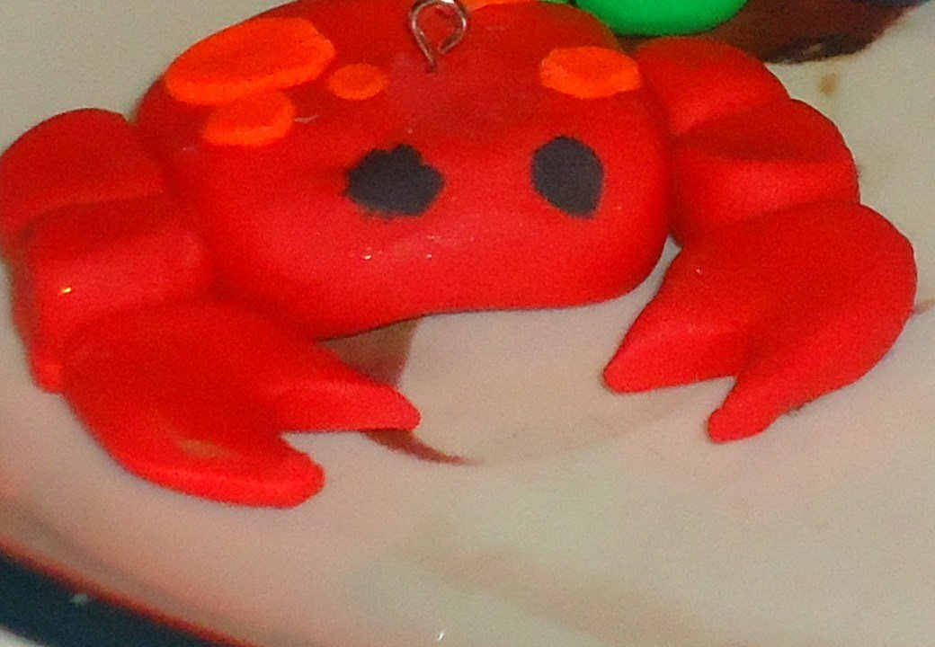 Kawaii Crab Charm