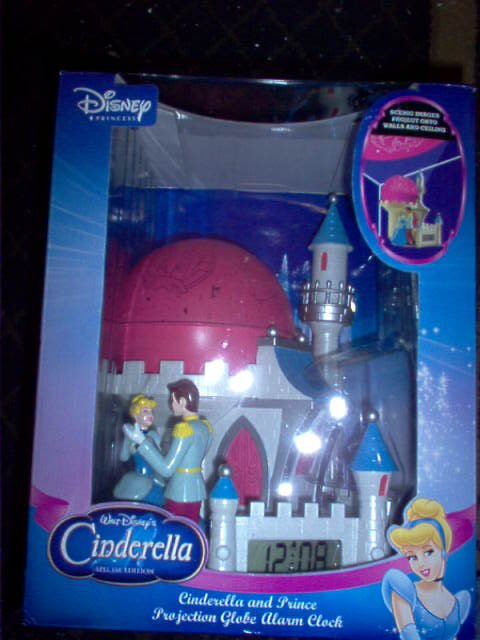 Disney's Cinderella & Prince Projection Globe Alarm