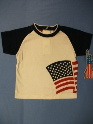 Target Baby American Flag Tee - size 9m