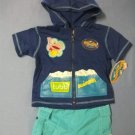 Rubbadubbers Swim Jacket & Short Set - size 12m