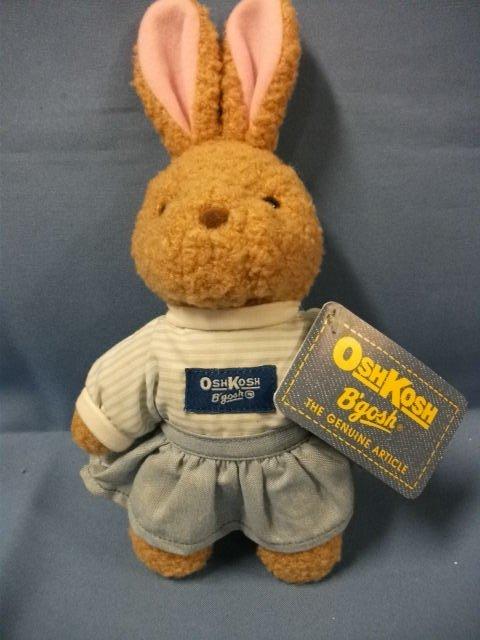 """Eden Toys OshKosh B'gosh Girl Bunny Rabbit 9"""""""