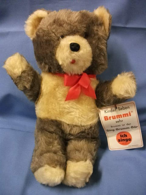 Rare Vintage Brummi German Singing Bear