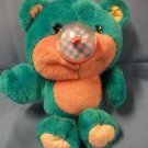"Nosy Bears 10"" Turquoise & Pink Balloon Blowing Bear 1987"