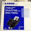 Halo Lazer Track Lighting Floating Canopy & Connector - Black - Set of 3