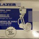 Halo Lazer Track Lighting Gimbal Ring Track Light - White - Set of 5