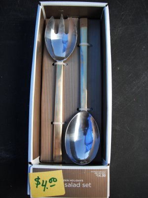 Golden Holidays 2 pc Salad Server Set 18/0 Stainless