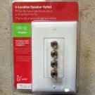 On Q Legrand 4 Location Speaker Outlet - White
