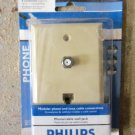 Philips Magnavox Coax & Phone Wall Plate