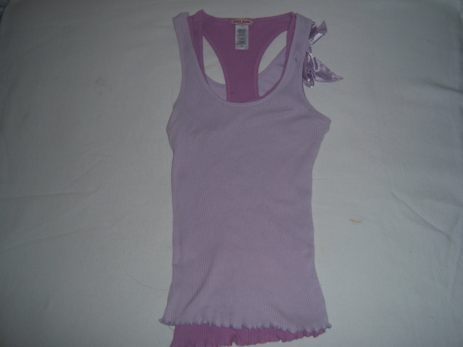 Guess Women's Junior's Purple Tank Top Size Large