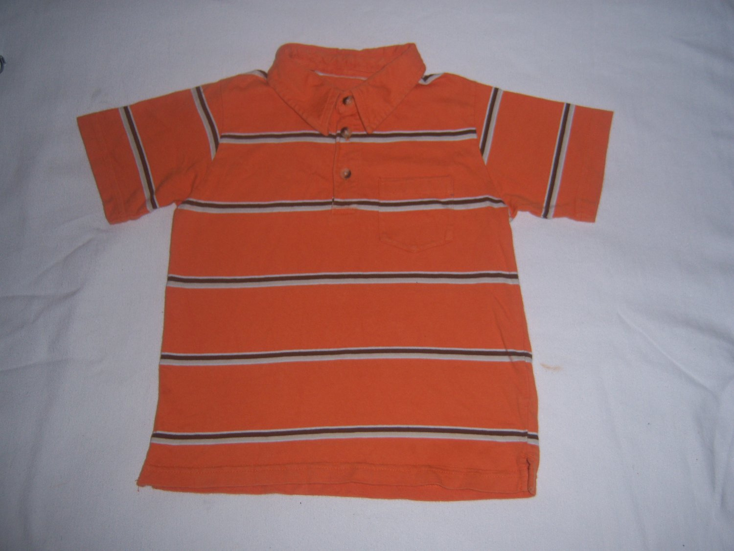 Faded Glory Toddler Boy's Polo-Style Orange Shirt Size 4T