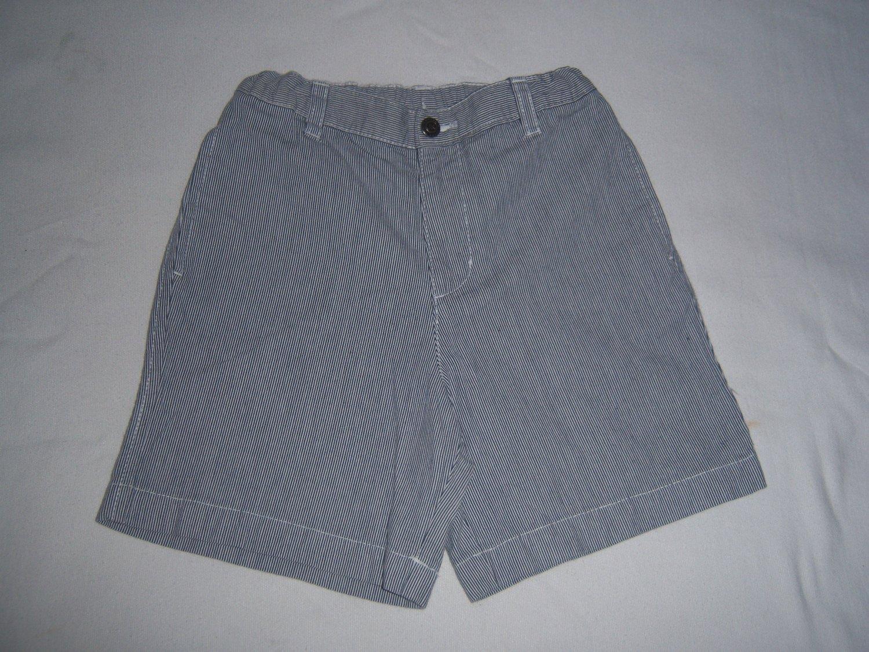J Khaki Little Boy's Blue & White Striped Shorts Size 7