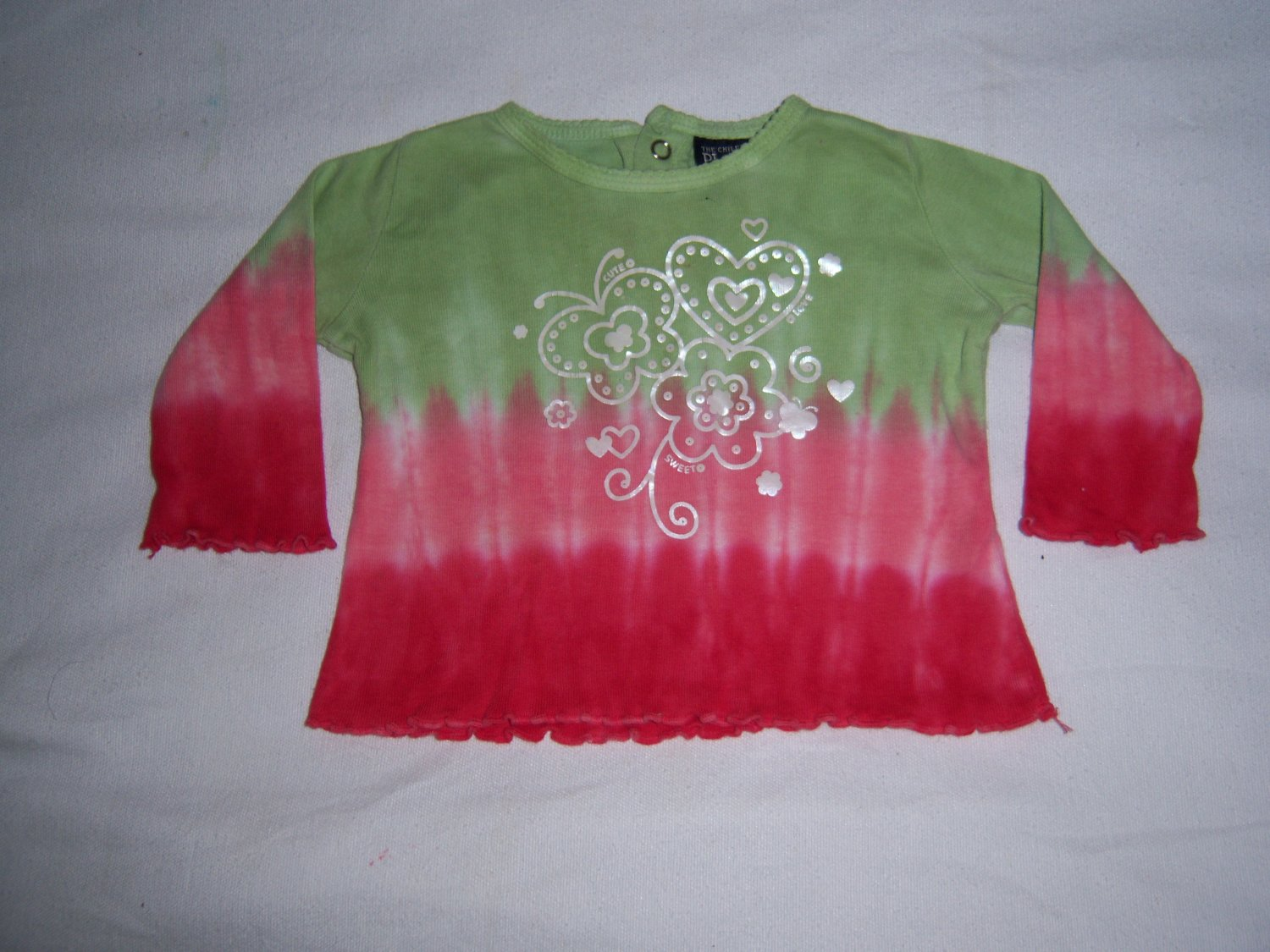 CHILDRENS PLACE INFANT BABY GIRLS LONG SLEEVE TOP 6-9M