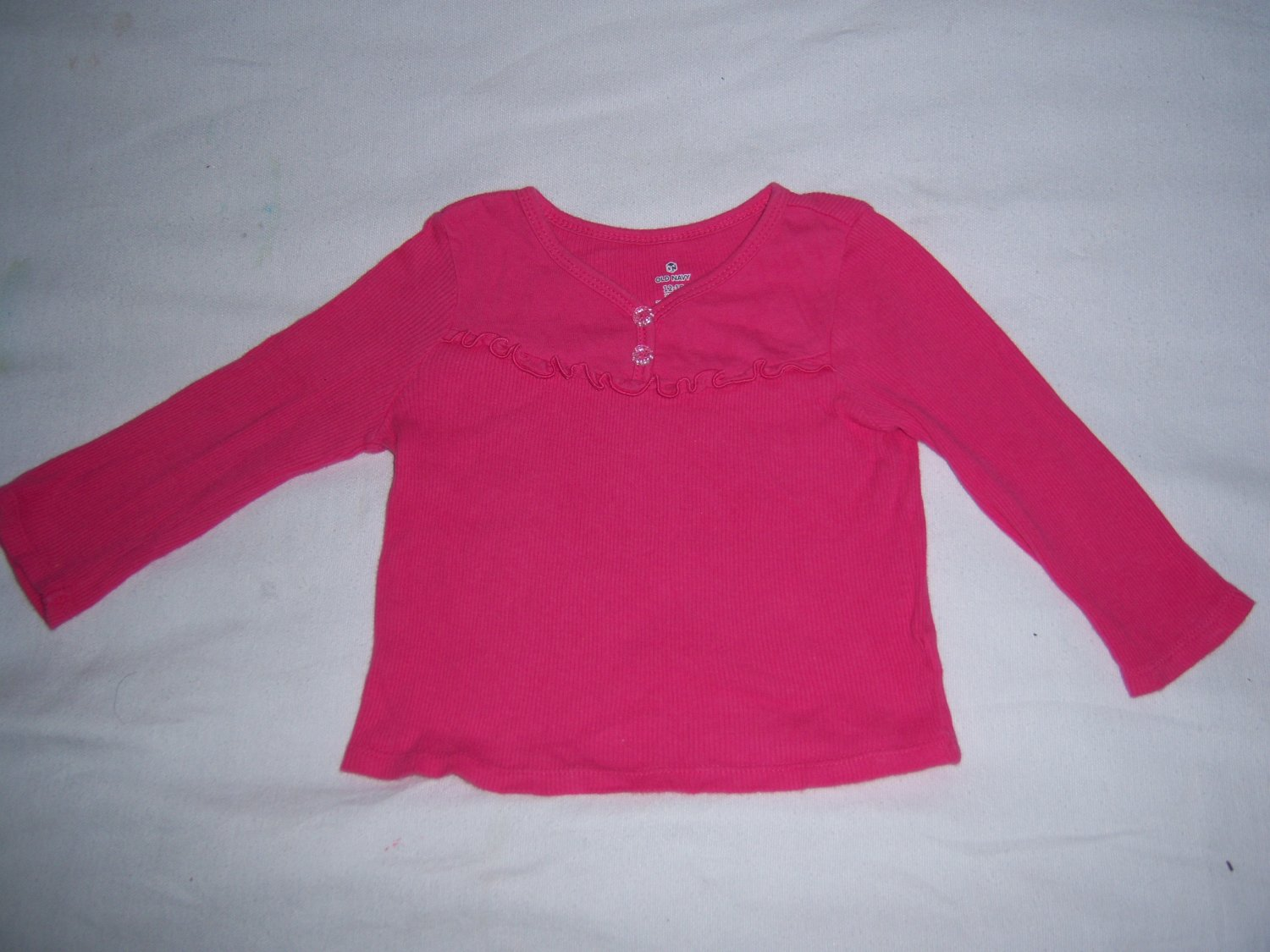 OLD NAVY INFANT BABY GIRLS PINK LONG SLEEVE TOP 12-18 M