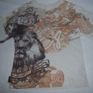 Akademiks Little Boys Brown & White T-shirt Size 7