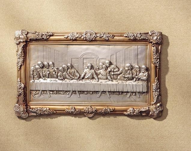Last supper bas-relief