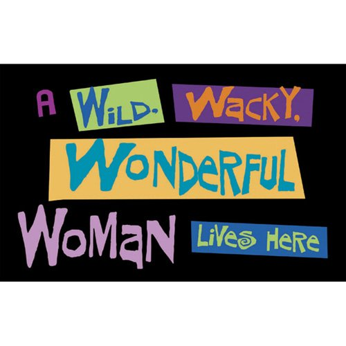 Wild Wacky Wonderful Woman Doormat