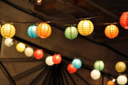 String of Paper Lanterns
