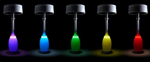 Neon outdoor lamps.