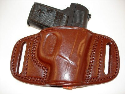 Tagua Leather LEFT HAND Belt Slide Holster for Ruger LCP 380 and Kel-Tec 380