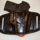Tagua Leather LEFT HAND Belt Slide Holster for Ruger LCP 380 and Kel-Tec 380