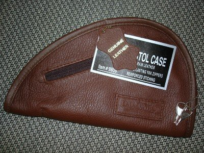 Leather Gun Pistol Concealment Storage Case with Lock and Keys for GLOCK 26 + MORE