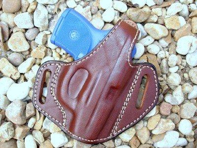 Gazelle Leather Belt Slide Holster w/ Thumb Break for RUGER