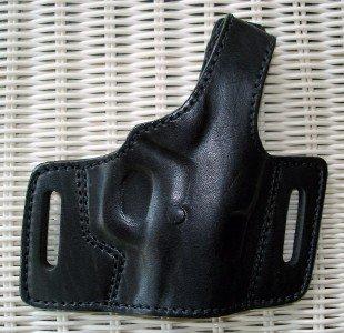 """Gazelle Leather Belt Slide Holster w/ Thumb Break for 1911 COLT DEFENDER 3"""""""
