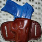 BROWN LEATHER RIGHT HAND BELT SLIDE QUICK DRAW HOLSTER for RUGER LC9