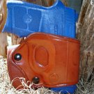 S&W BODYGUARD 380 LEATHER YAQUI RIGHT HAND BELT SLIDE CROSSDRAW HOLSTER by TAGUA