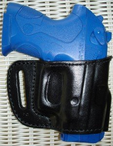 BLACK LEATHER BELT YAQUI SLIDE HOLSTER for BERETTA PX4 STORM FULL & SUB
