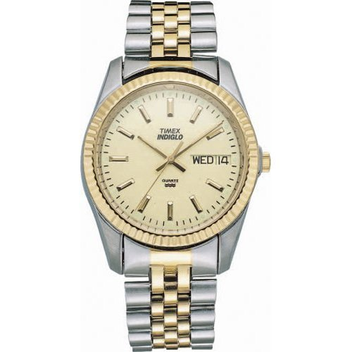 Timex Men's T32747 Classic Two-Tone Stainless Steel Bracelet Watch