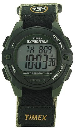 Closeout Timex Mens Expedition Indiglo Chrono / Strap H40950