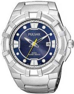 Closeout Pulsar by Seiko Mens Quartz Calendar Bracelet (PXH629)