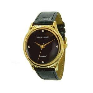 Pierre Cardin Men's PCD1901YK Diamond Collection Diamond Leather Strap Watch