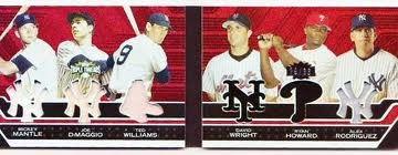 2008-Topps Dble Combo-Mantle, Rodriquez, Dimaggio, Howard, Williams,Wright