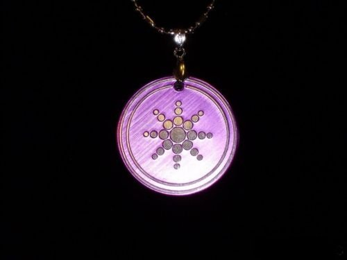QUANTUM PENDANT PURPLE POWER SCALAR ENERGY SCIENCE NEW