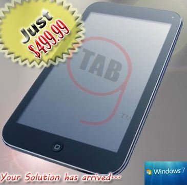 "10"" windows 7 gTAB slate pc tablet wifi hp 320gb 2gb ram 1.66ghz 500"