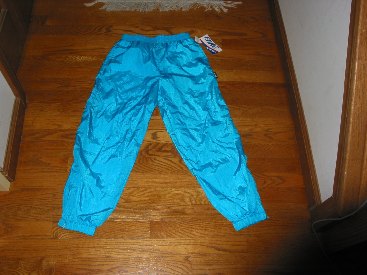 Boys pants size m blue girls bike athletic lined sports pants new tag