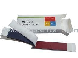 Dental  5 X  Articulating Paper Blue/Red Thick Strips 12 sheets - FREE SHIPPING