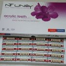Dental NT-UNAY Acrylic Teeth Dentures Set  ,10 *  full mouth sets  Free Shipping