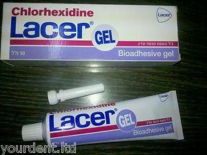 Dental Chlorhexidin Lacer Gel (2 X 50ml) Gentle Mint Flavour - Free Shipping