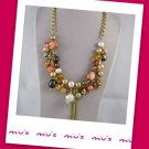 Korean design Dazzling Assorted Bead 45cm Collar Necklace (zz.10)