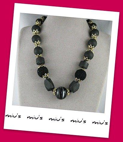 Classic Elegant Assorted Beads 40cm Medium Long Necklace (zz.12)