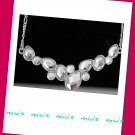 Rhodium Plated Sparkling Always Match 43cm Collar Necklace (zz.103)
